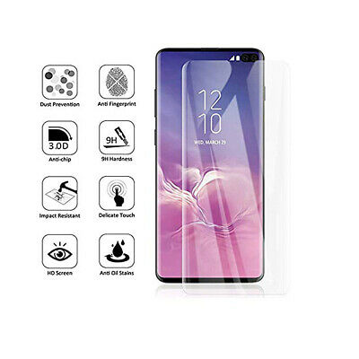 NUGLAS 3D Tempered Glass Screen Protector For Samsung Galaxy S10 S9 S8 Plus S10e 2