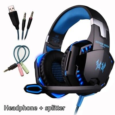3.5mm Gaming Headset Mic Headphones Stereo Surround for PS3 PS4 Xbox ONE 360 PC 7