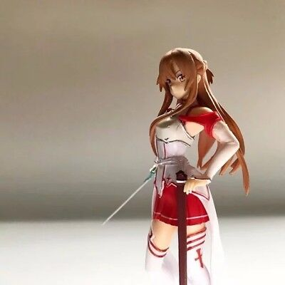 18CM Sword Art Online Yuuki Asuna Stand Figure SAO Girl Collection Toys In Box 2