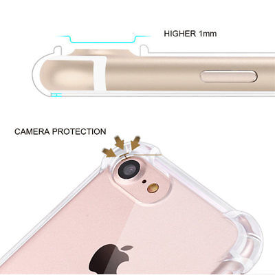 for iPhone Xs 8 7 6 Plus Case Cover silicon Shock proof Tough Hard Gel Lot 5 SE 11