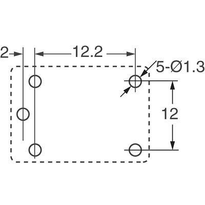 RELAY PANASONIC EW PCB 12VDC SPDT 15A 12V JSM1-12V-5 SPCO