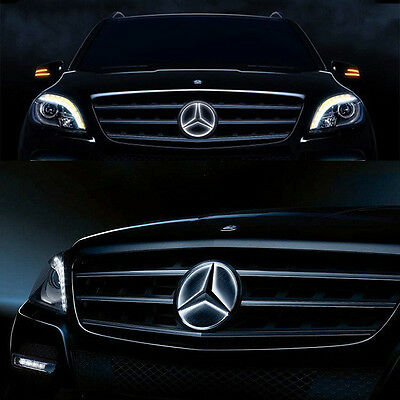 Illuminé LED lumière Emblème Logo Grille LED Badge Avant pour Mercedes Benz NEUF 7
