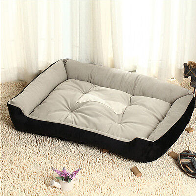 Large Luxury Washable Pet Dog Puppy Cat Bed Cushion Soft Mat Warm Basket Comfy L 6