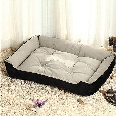 Large Luxury Washable Pet Dog Puppy Cat Bed Cushion Soft Mat Warm Basket Comfy L 6