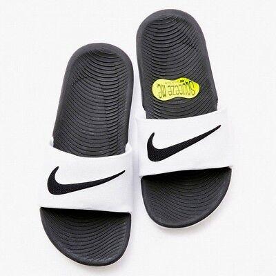 Nike Kawa Slide Slider Slip On Solar Soft Pool Sandals Junior Womens White Black 2