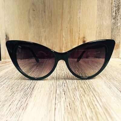 fde2c85c365c ... Large Cat Eye Thin Frame Hot Pin Up Nikita Rockabilly Fashion  Sunglasses Glasses 2