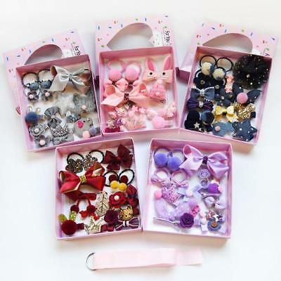 18PCS Baby Girls Head wear Elastic Bow knot Hair Clip Barrette Hairpin Xmas Gift 2