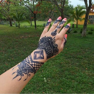 Henna City Black Temporary Tattoo Jagua Gel 8 Oz Bottle Fast