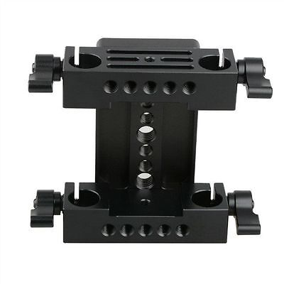 US CAMVATE Tripod Mount Base Plate w/ 2 15mm Rail Blocks For DSLR Shoulder Rig