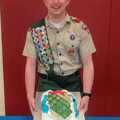 Eagle scouts edible cake topper or cupcakes picture rank boy sugar paper image