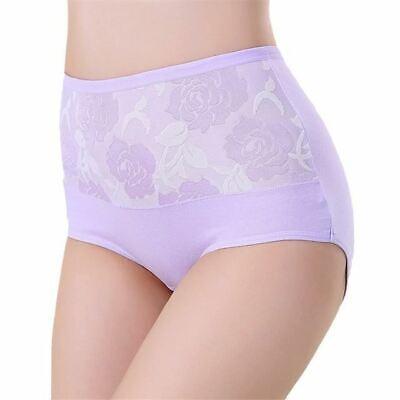 1 Pc Women High Waist Cotton Lace Briefs Sexy Healthy Panties Underwear Slimming 5