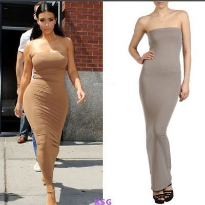 61c9e0d93f7 ... WOLFORD FATAL DRESS in TAPIOCA - BODYCON TUBE STRAPLESS STRETCH SKIRT  TOP - MED 6