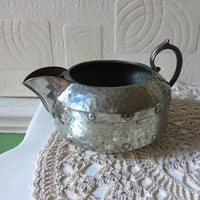 Arts & Crafts Pewter Tea Set A.Milns & Co Sheffield England 1920s 6