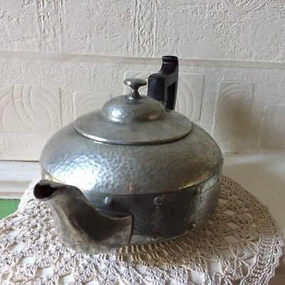 Arts & Crafts Pewter Tea Set A.Milns & Co Sheffield England 1920s 7