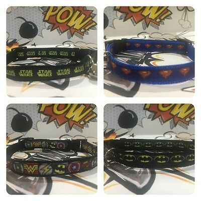 Marvel Superhero handmade Dog and Cat Collar, Batman, Superman, Comic, Star Wars 2