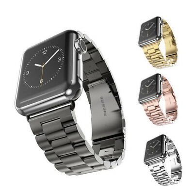 Stainless Steel Wrist iWatch Band Strap for Apple Watch Series 4 3 2 1 40mm 44mm 4