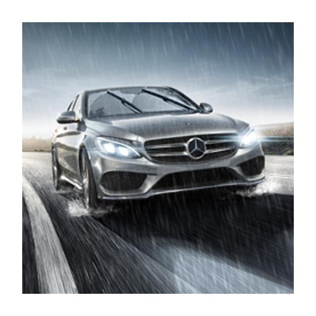 For Mercedes GL GLS ML Windshield Wiper Blade Set Front 3.0L V8 Valeo 577857