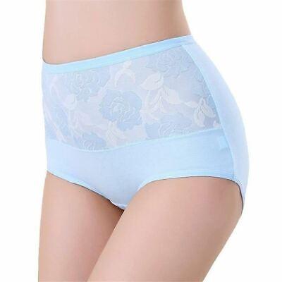 1 Pc Women High Waist Cotton Lace Briefs Sexy Healthy Panties Underwear Slimming 6