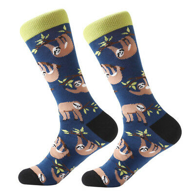 NEW Mens Combed Cotton Sock Animal Alien Panda Moustache Novelty Casual Sock SOX 7