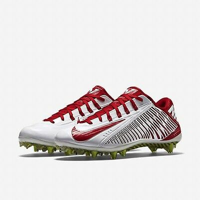 4845ee6a4b47 ... Nike Vapor Carbon 2.0 Elite Td Pf Football Cleats White Red 631425-160  Mens 16