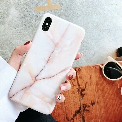 Pastel Marble Pattern Cover Case Soft Shockproof For iPhone X 6 8 7 Plus 5 Max 2