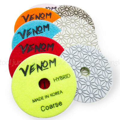Venom 3 Step Diamond Polishing Pads 4 Inch Granite Quartz Engineered Stone
