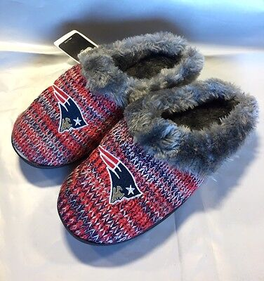 57da333219e ... New England Patriots Slippers Logo NEW Womens Slide House shoes! Peak  Slide 2