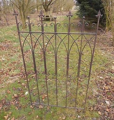 2er Set Steck Zaunelement Rankgitter Gartenzaun Antik Landhausstil