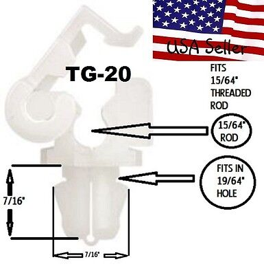 Ford Door Tailgate Rod Retainer Clips 1-PR Also fits Fords 86 /& UP  TG20YW