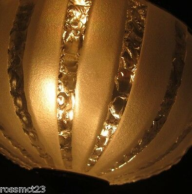 Vintage Lighting circa 1950 Hollywood Regency cracked ice foyer More Available 3