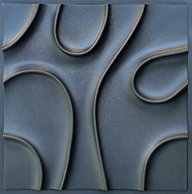Art Panels Decor 3D Plaster Wall Branches Stone Mold Tile Form ABS Plastic Shell