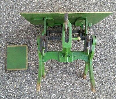 Alte Dezimalwaage/Krämerwaage  Fabrikat um 1910 Farbe  Grün 5