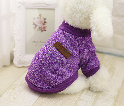Pet Clothes Knitted Puppy Dog Jumper Sweater For Small Dogs Coat Cat UK STOCK 7