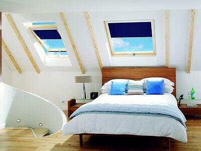 Eindeckrahmen 0-50mm 66 x 112 Verdunkelungsrollo und Universal Balio Dachfenster Kunststoff incl