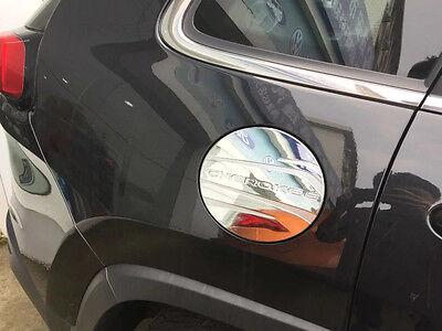 Chrome Gas Cap Oil Tank Cover Trim for 2014-2018 Jeep Cherokee Gasoline Black