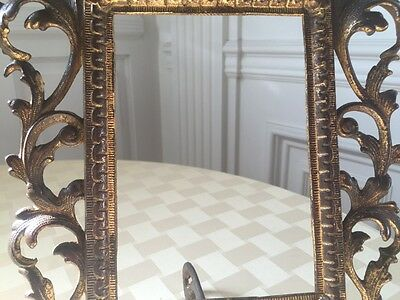 Pair of Old Ornate Cast Iron Picture Frames 3