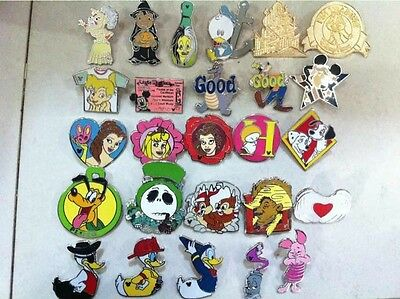 ~! 50 Mickey Disney Collectible Trading Pins Lot! 100% tradable HM LE CAST~! 9