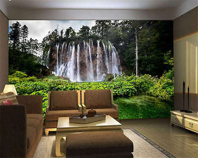 Theme Forest Waterfall Full Wall Mural Photo Wallpaper Print Kids Home 3D Decal