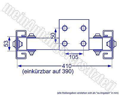 AL-KO ALKO Stützradtraverse für Stützrad für V Deichsel Gestelle 300kg 440-460mm