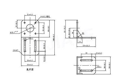 57mm Nema 23 Stepper Motor Holder Mounting Bracket Support For CNC 3D Printer 2
