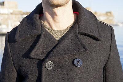 """Caban laine couleur marine Schott coupe droite /"""" 740"""