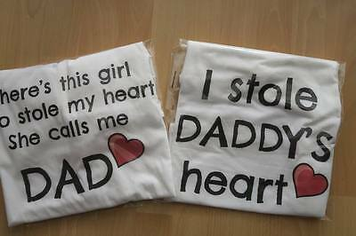 Daddy & Daughter Matching T-shirt, Fathers Day, Father, Dad, Men's, Set, Kids