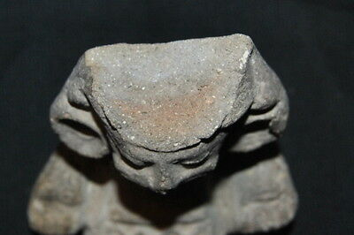 Antique Pre-Columbian Stone Figure Seated Man. NICE!!! 4