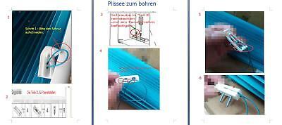 Klemmfix Plissee ohne Bohren Verdunkelung Faltrollo Jalousie verspannt #325-5 9
