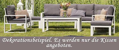 OUTDOOR Sitzkissen ~40x60 cm GRAU ANTHRAZIT TAUPE braun WETTERFEST Kissen Lounge