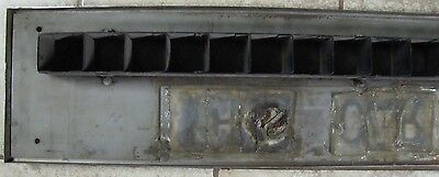 Vintage Elevator 'This Car Up' Sign old NYC building architectural stainless adv 10