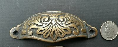 """4  Apothecary Drawer Cup Bin Pull Handles 4 1/8"""" Antique Vict. Style Brass #A1 4"""