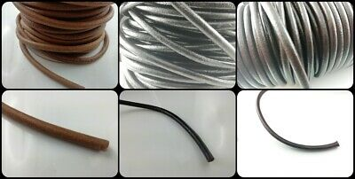 Lederband 1-6 mm Ø Rund Lederschnur Länge/Farbe/Durchmesser wählbar TOP Qualität 2