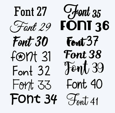 Customised Box Frame Sticker Decal 60 FONTS Quote 3 Sizes DIY  design your own 4