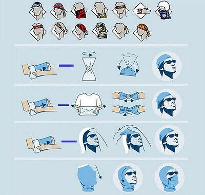 Newset!Unisex Solid Scarf Tube Bandana Head Face Mask Neck Gaiter Snood Headwear 8